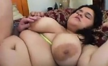 Fat Chick With A Bush Being Pounded