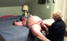 Mature gives chubby hubby good handjob