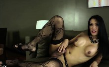 Ladyboy Fanta does a steamy masturbation