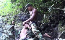Eager bootie mouth fucked in the jungles