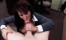 MILF titjob while sucking cock