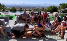 Group of swingers enjoying nasty games and oral