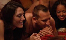 First time swingers couple enjoy an orgy bang at a house