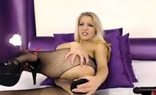 Sexy Blonde Slut Masturbates