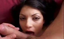 Breasted Latina With Nice Eyes Gives Blobjob & Gets Fucked