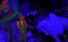 Teen Sluts Suck Big Cocks At A Glow Party