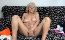 Nasty Granny Pleasures Her Pussy