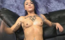 Emo Slut Orion Star Getting Her Face Totally Destroyed