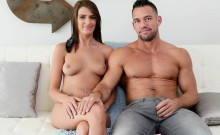 Debbie is hot in her first anal fuck