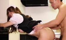 Kinky Japanese maid drops massive cumload