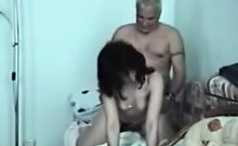 Old-man fucking with fresh hottie