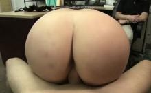 Pawnshop staff squeeze Nina Kay Big tits
