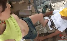 Lily Cross Footjob With Worker