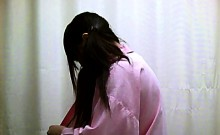 Japanese girls are changing their clothes and caught on spy