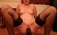 Granny gets sexy together with her doll that is large
