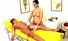 Eve Angel examining Shanis