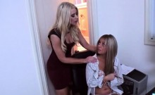 Two Amazing Blonde Babes In Hot Threesome