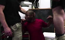 Black straight guy sucks cock and is assfucked by two gays