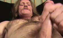 Mature Amateur Lil Rooster Jerking Off