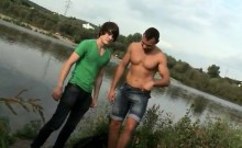 African daddy and boy gay Anal Sex by The Lake!