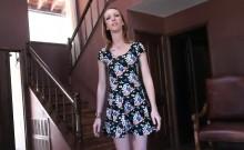Teen stepdaughter jizzed