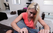 hot blonde teen gets served
