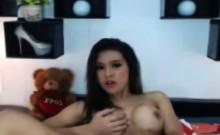 Tranny Hottie Masturbating on Cam
