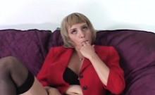 Big tits blonde mommy blowjob doggy interracial