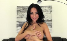 Anissa Kate Wears Matching Bra and Panties While She Spreads