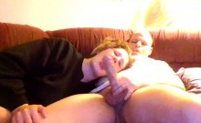 Horny cocksucker from Milfsexdating Net on the couch