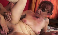 Redhead Granny Fucks And Cumplays