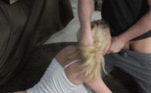 Groped amateur roughly fucked by her stepbro