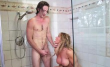 My Gfs Hot Mom Sneaks And Sucks My Dick In The Shower