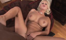Big black cock for a stacked blonde
