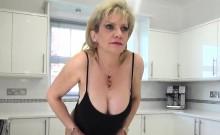 Unfaithful british milf lady sonia shows off her large ballo