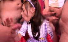 Cosplay Nippon Teen Blowbanging Until Bukkake