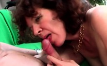 Brunette Granny In Hot Action