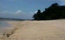 Exploited black chick banged on beach by white rod