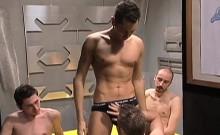 Sexy boys have fun in the Sauna