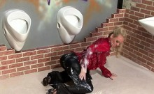 Babe Enjoys At Gloryhole And Gets Overspread In Slime