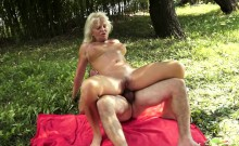 Busty Grandma Fucked In Asshole Outdoors