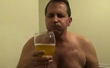 Perverted Sissy Tom Pearl Drinks His Piss