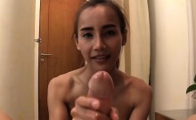 Petite Ladyboy Pink Sucks Off And Anal Pumped Bareback