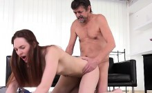 Teen Ariadna Gets Doggystyled By Old Man