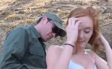 Ginger Hottie Pounded Outdoors