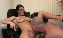 Sexy Teacher Makes Him Work Hard