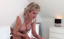 Adulterous British Milf Gill Ellis Reveals Her Heavy Jugs05m