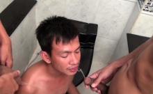 Gay Twink Pees Over Asian