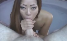 Hot Asian in bikini fucking outdoors!