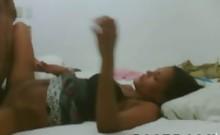 Juicy latina trollop screws hard in her bed